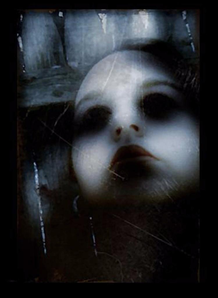 Gothic doll, mixed media art - totallytwistedfickity | ello