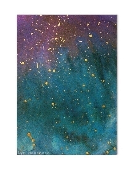 Golden galaxy  - gold, painting - lynmakenzie | ello