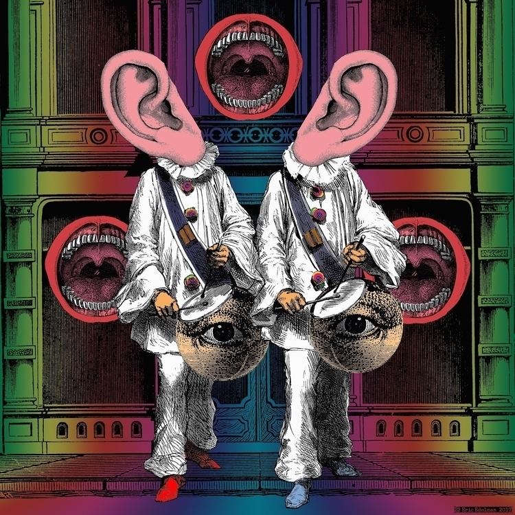 Double Paradiddle (2017). Digit - retrocollage | ello