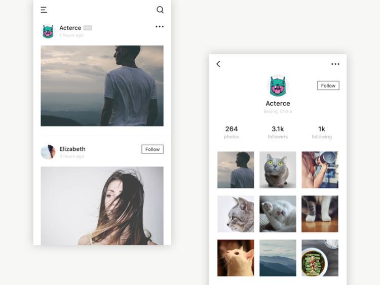 photo social app - acterce | ello