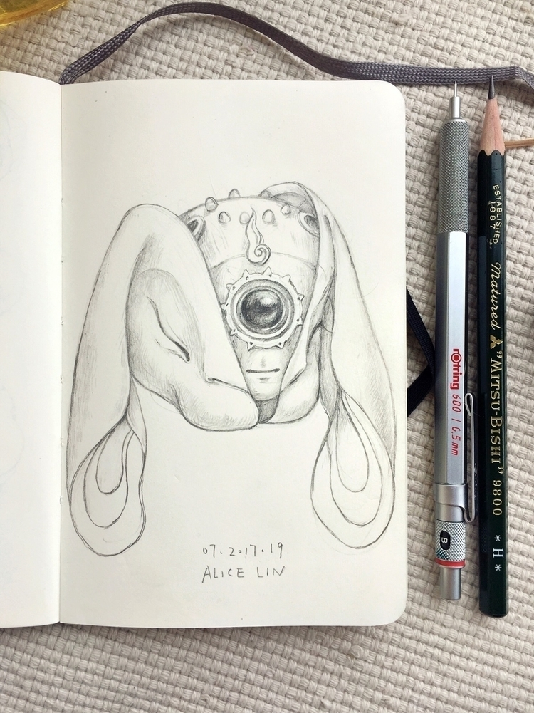 drawing, doodle, sketchaday, sketchbook - alice_lin | ello