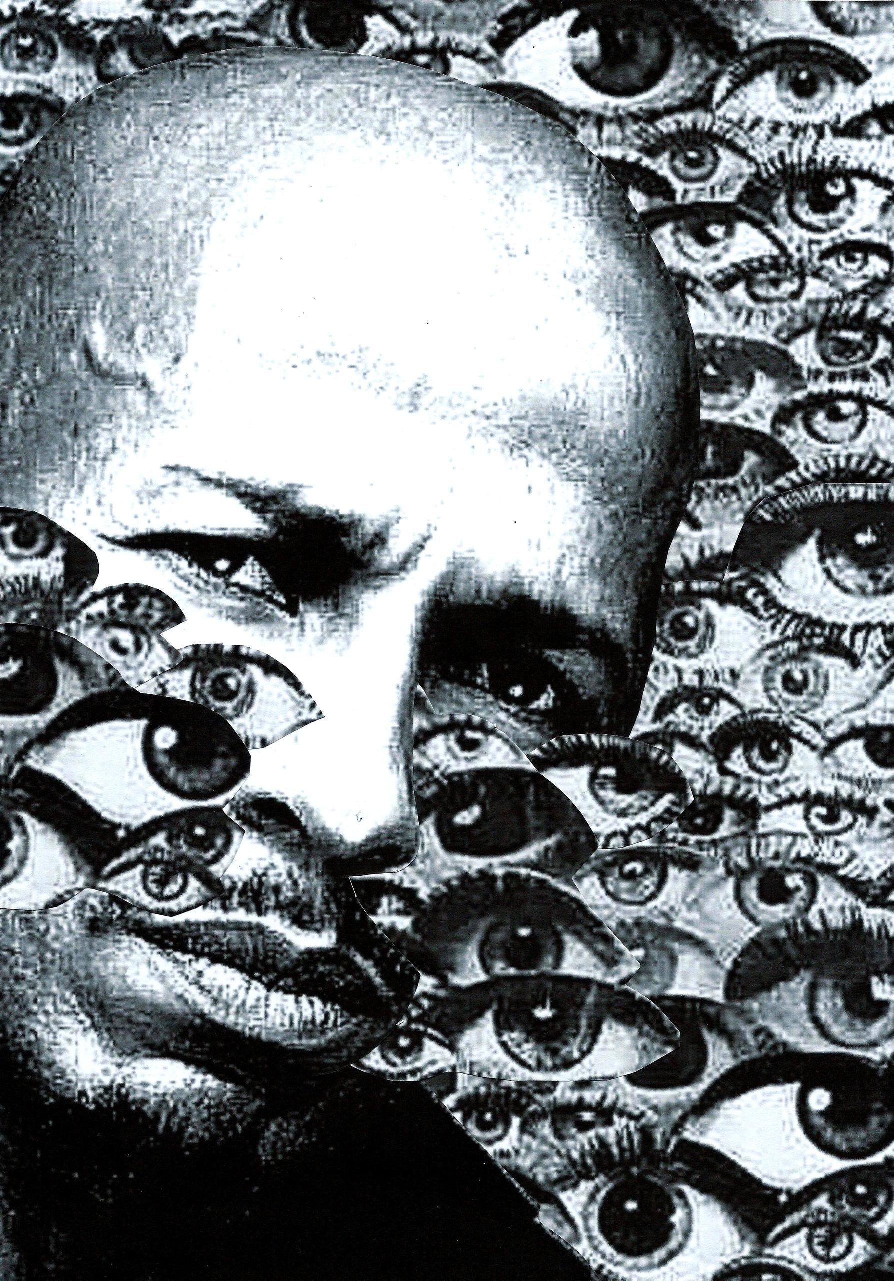 Portrait Franck Danican 4 - collage - graemejukes | ello