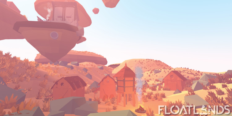 Farmers village middle desert - 3D - floatlands | ello