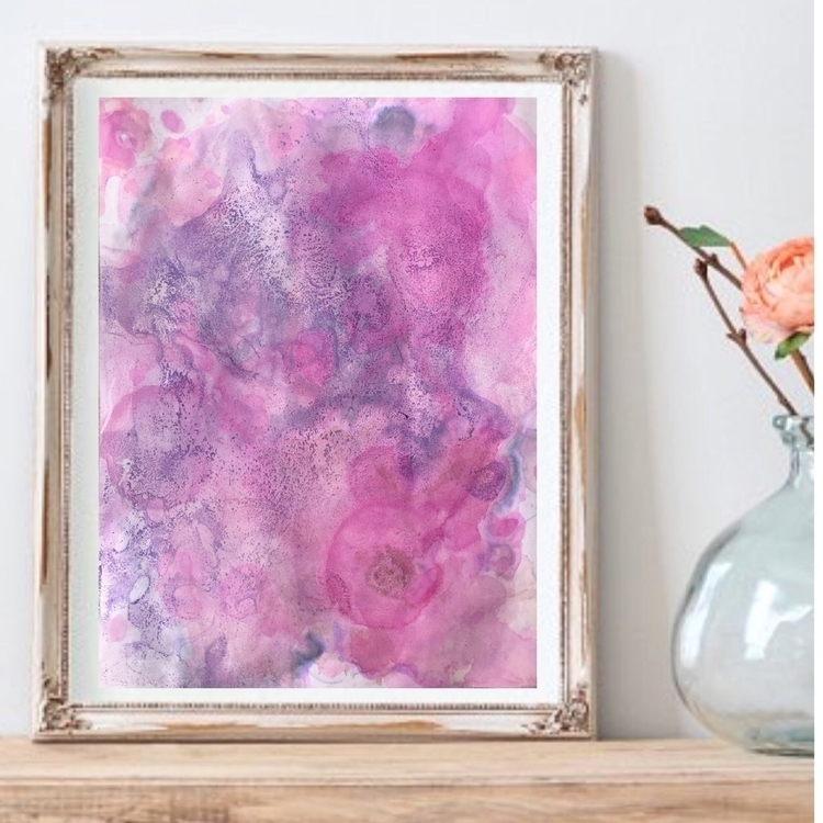 Pink Oasis | $25 8.5 11  - fluidart - thatgirlstayce | ello