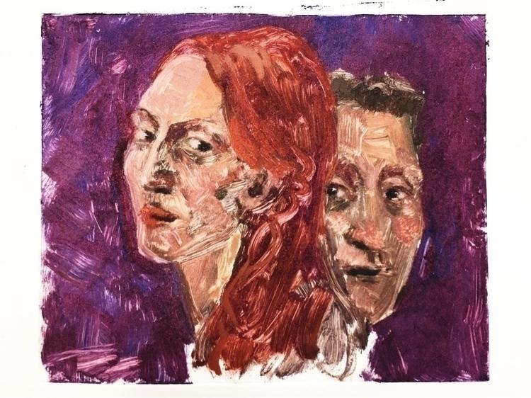 Monoprint, monoprint, oil, portraits - yuliavirko   ello