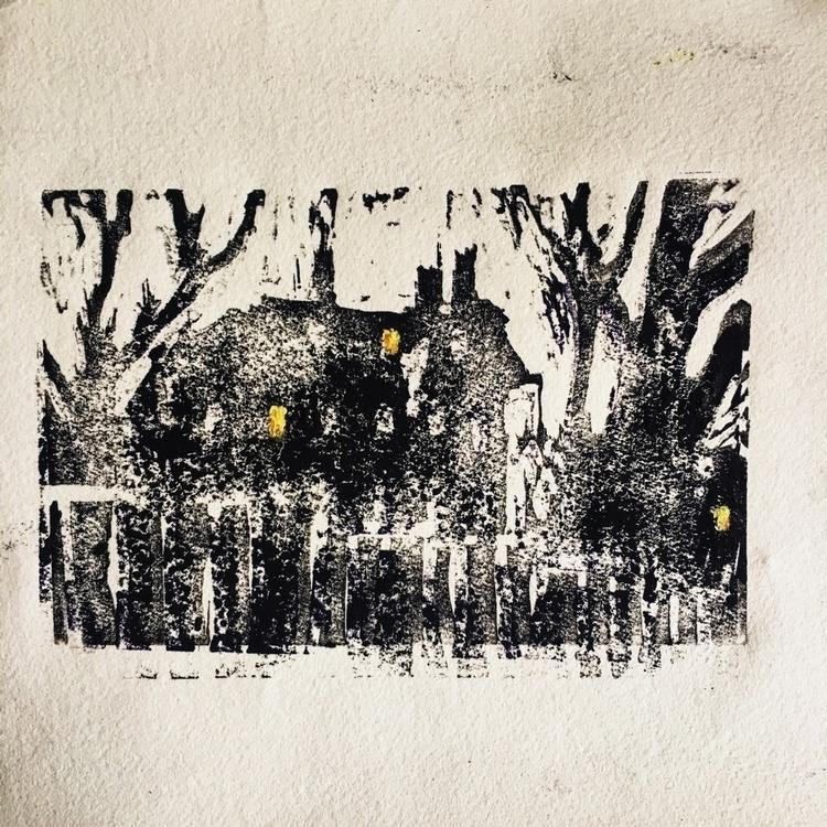 print, night, ink, oil, figures - yuliavirko | ello