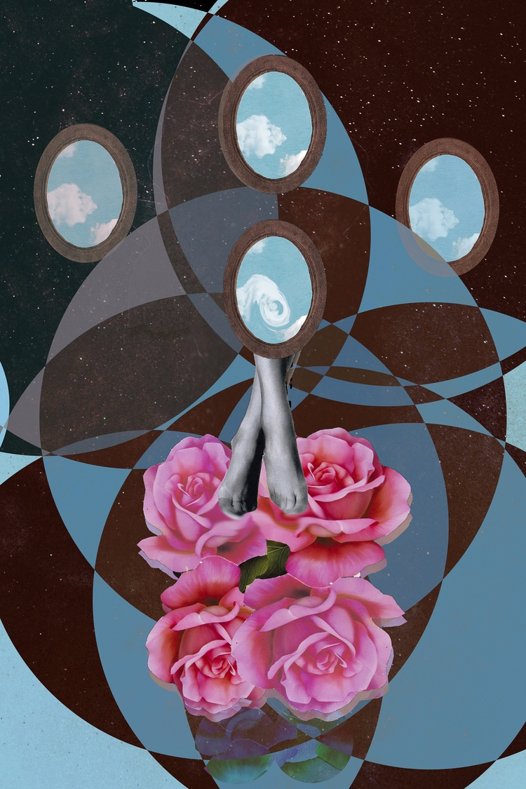 mirror - flower, digitalcollage - franalvez | ello