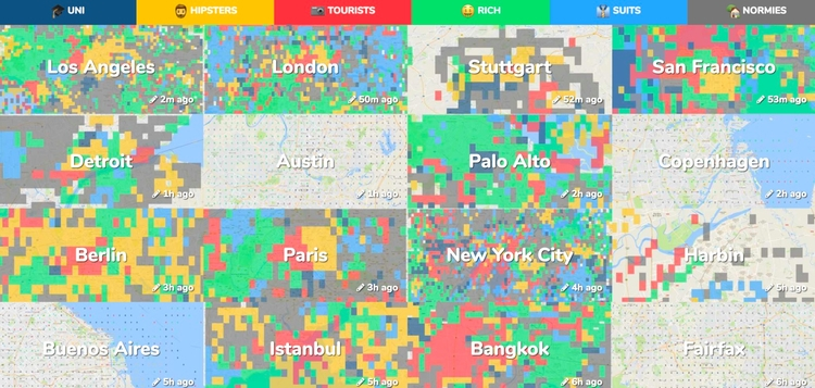 Hipsters City? Crowdsourced Map - archdaily | ello