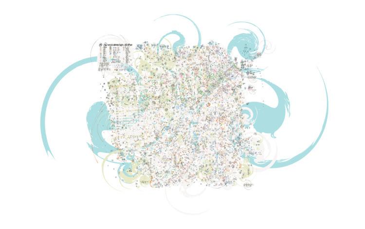 San Francisco; 2015 - vector, cartography - splattered | ello