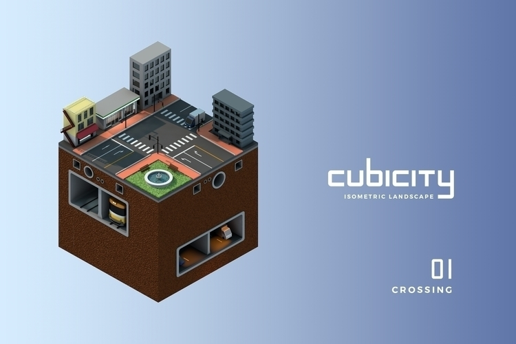 Cubicity - Crossing - 01, cinema4d - falcema | ello