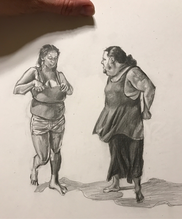 drawing - peopleofsixflags, figurative - candiceflew | ello