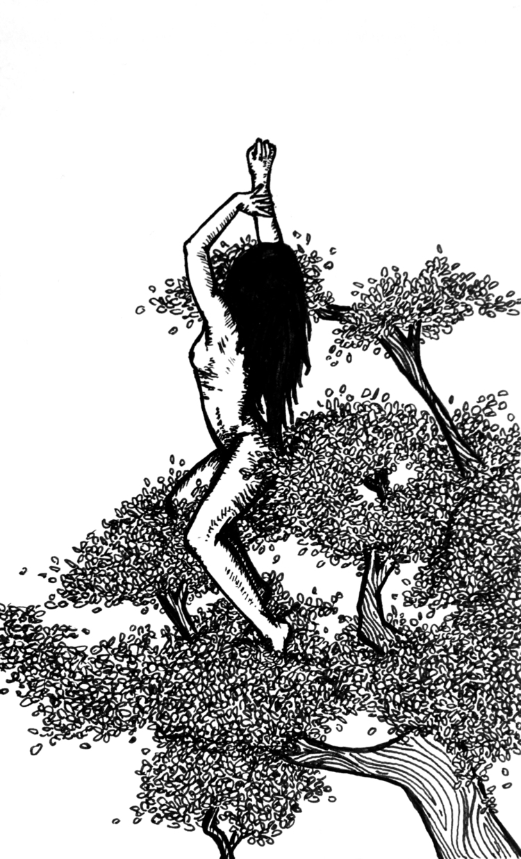 Sitting naked tree canopy pride - inklining | ello