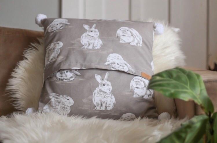 ENVELOPE | bunny Pom cushion cu - littlemisslorraine | ello