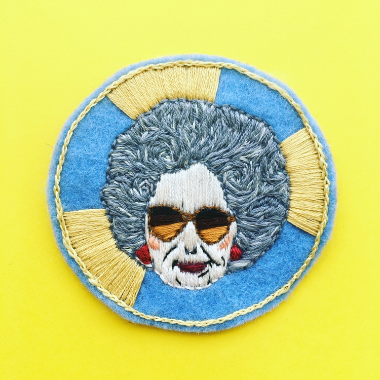embroideryart, embroideredpatch - crossthepop | ello