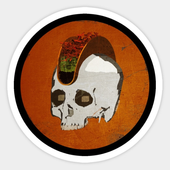 Punk Rock Taco Skull! Perfect T - ryanjgill | ello