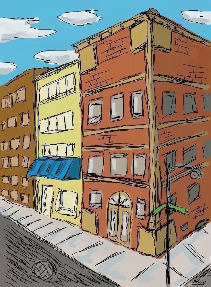 city, street, perspective, art - stormchild | ello