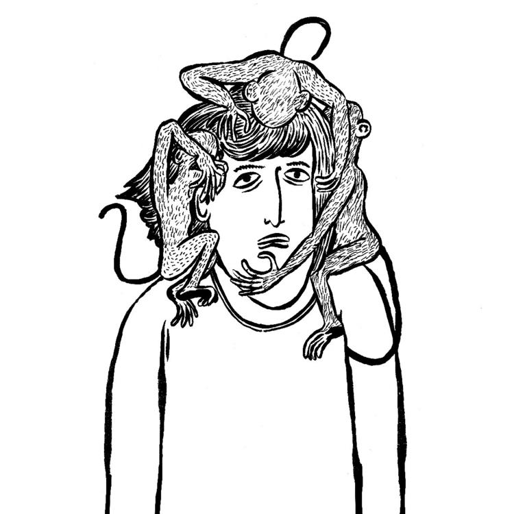illustration, mindfuck, dordecabeça - hugorhenriques | ello