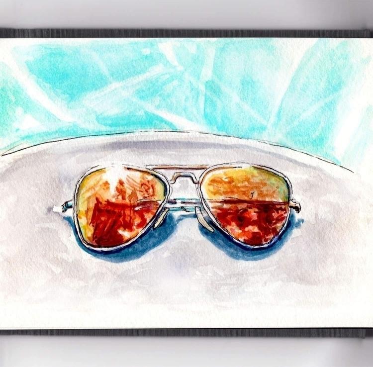 - Day 19 Pool - WorldWatercolorMonth - doodlewash | ello