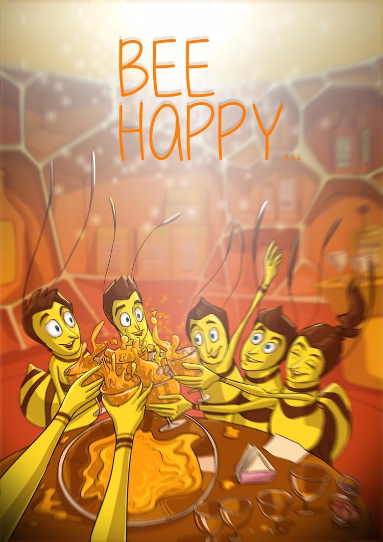 art, happy - Illustration, digital - dayamundaye | ello