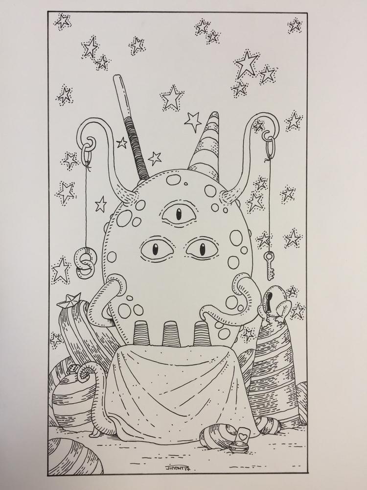 - le bateleur / magician - illustration - jimmy-draws | ello