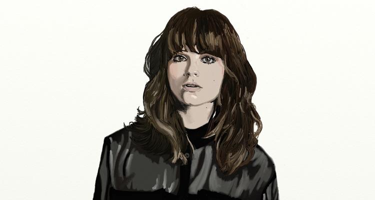 Portrait Gabrielle Aplin Digita - lhyillustration   ello