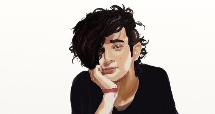 Portrait singer Matty Healy. Di - lhyillustration | ello