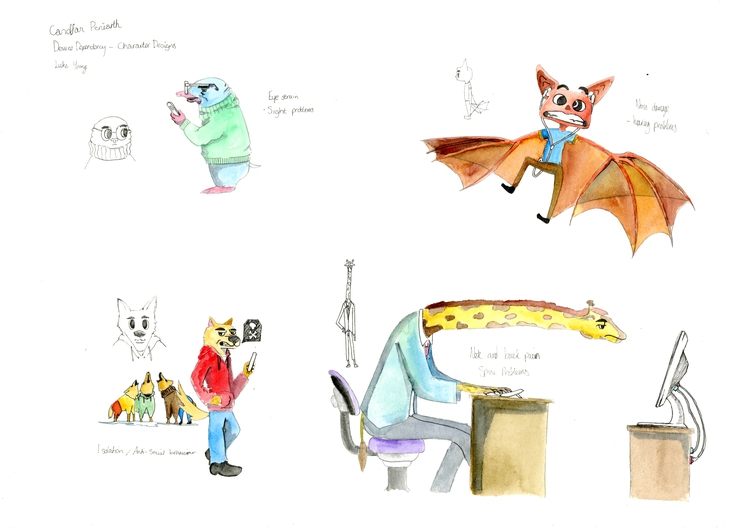 Anthropomorphic Character Desig - lhyillustration | ello