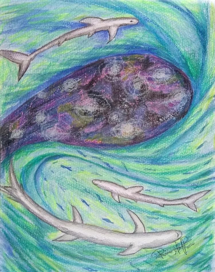 Ver afuera - mixed, technique, watercolor - rinamr | ello