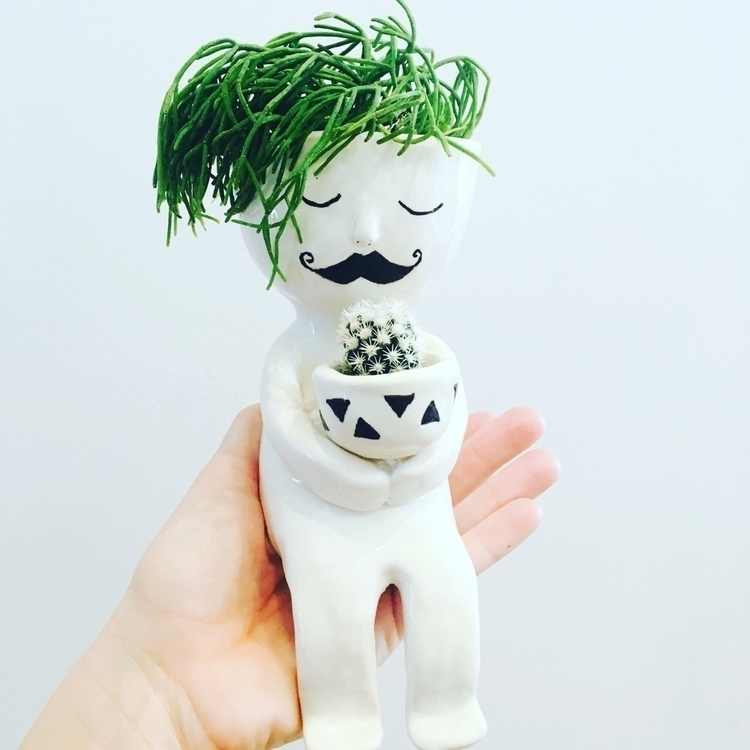 listed dude planter etsy shop - ceramics#pottery#cactus#planter#etsy - livingdecortwins | ello