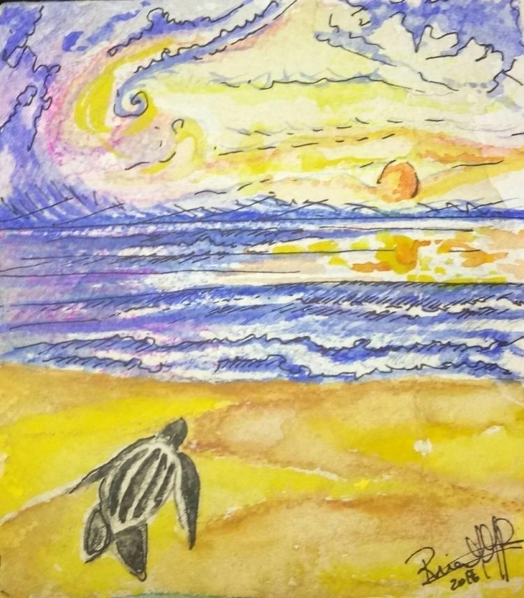 home 3 - watercolor, gravity, marker - rinamr | ello