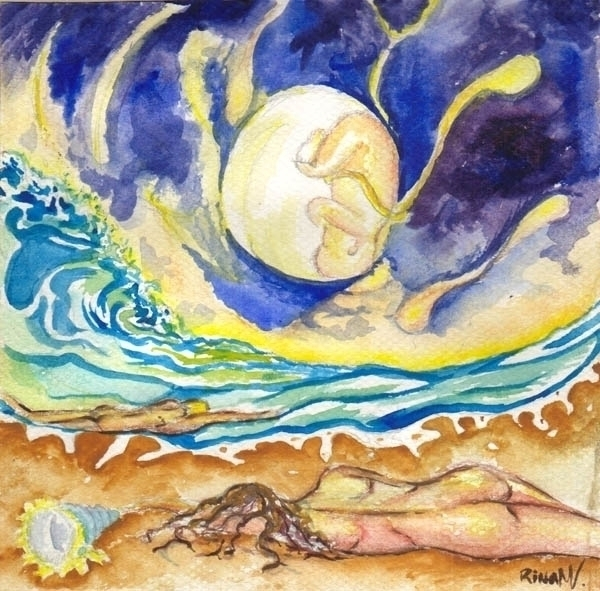 Life colors - watercolor, ocean - rinamr | ello
