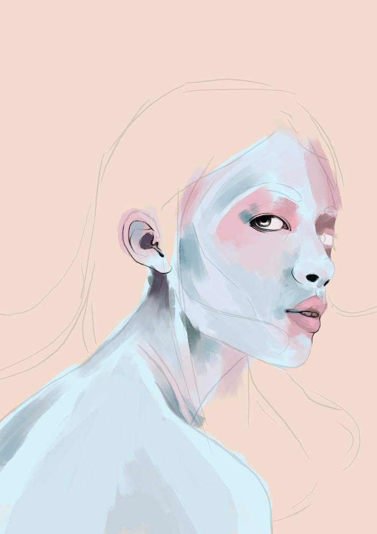 wip, alice, wonedrland, digitalpainting - leexim | ello