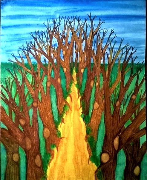 Enlighten 9x12 watercolor - donebyme - teerivsaid | ello