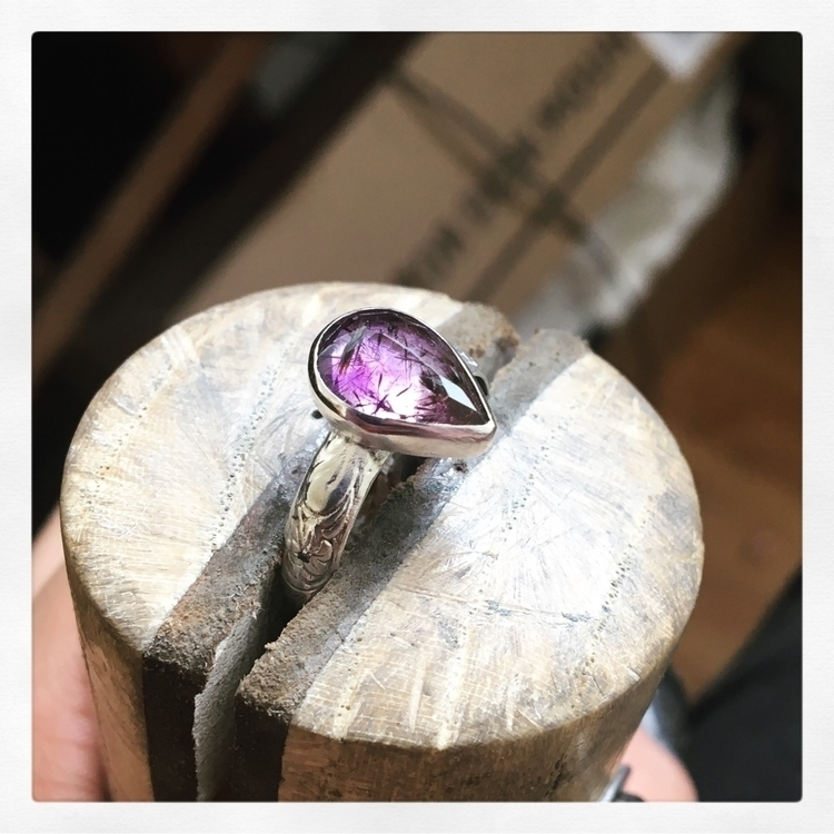 Cacoxenite amethyst ring - pangaiajewels - pangaiajewels   ello