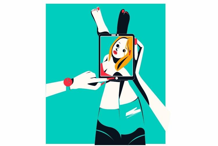 Selfie girl - Renderforest, animation - renderforest | ello