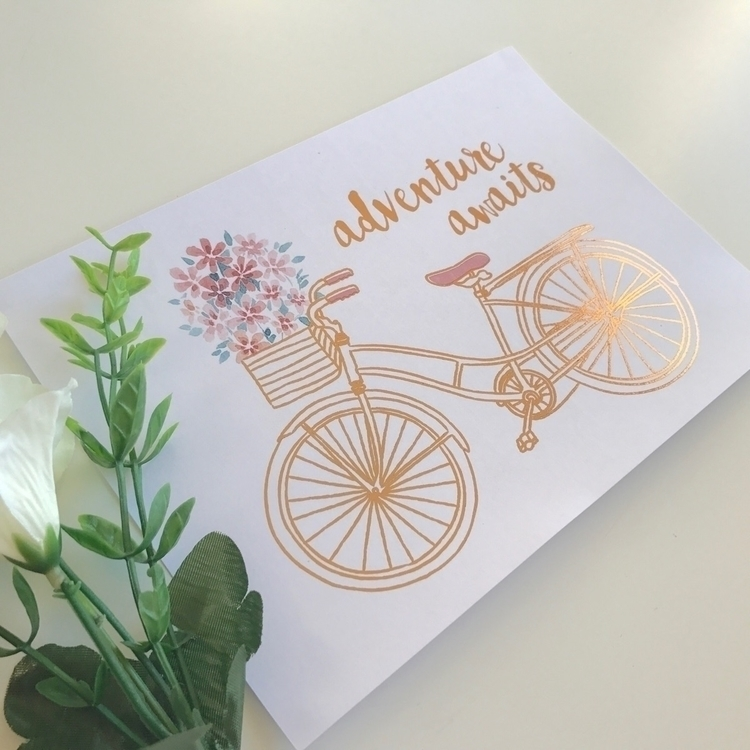 • adventure awaits . A5 print b - kaebee_designs | ello