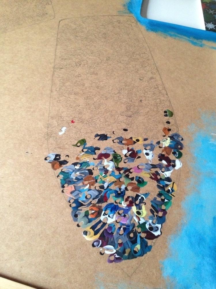 work progress - art, painting, acrylic - maya_tartaruga   ello