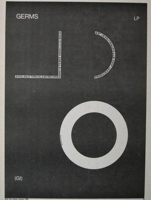 Germs, album advertising, 1979 - p-e-a-c | ello