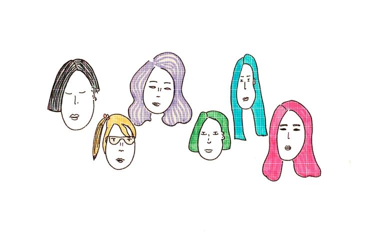 Faces 2 - illustration, illustrator - nigli | ello