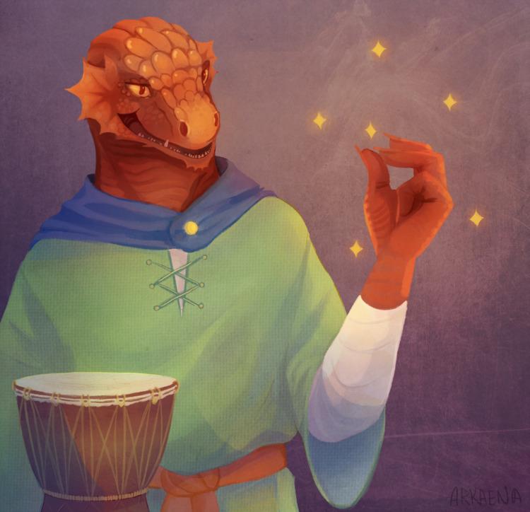 dragonborn DD character - arkaena | ello