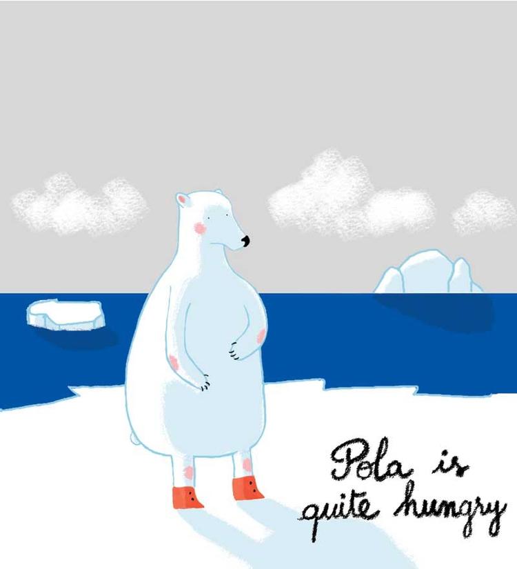 Pola Bear <3 - illustration, digitalart - marylore | ello