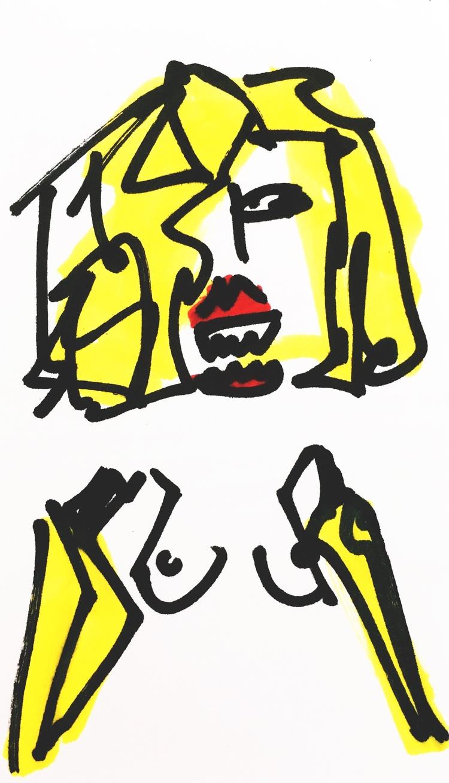 Banana-Arm Woman Tiger Teeth, 2 - jkalamarz   ello