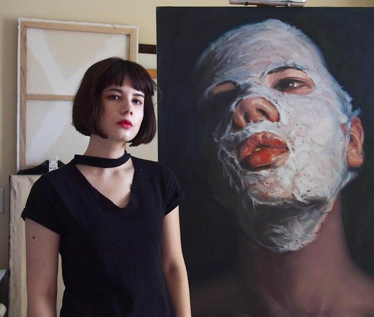 Head tilt - art, painting - megankoth | ello