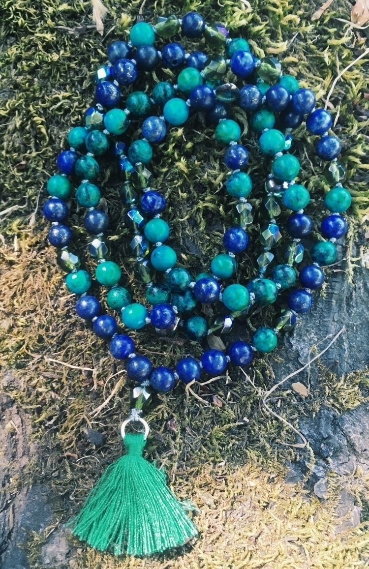 108 beaded Mala Lapis Lazuli Ja - gypsyxjewels | ello