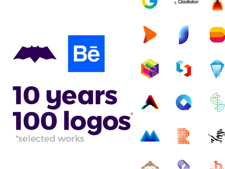 10 Years, 100 Logos, selected w - alextass | ello