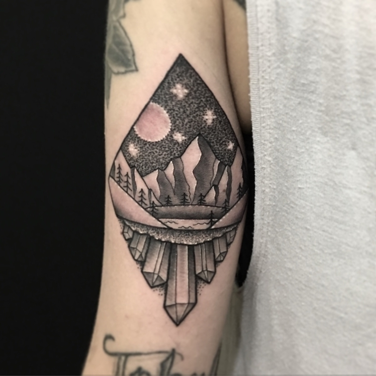 Custom scene diamond shape - tattoo - jm_ink | ello