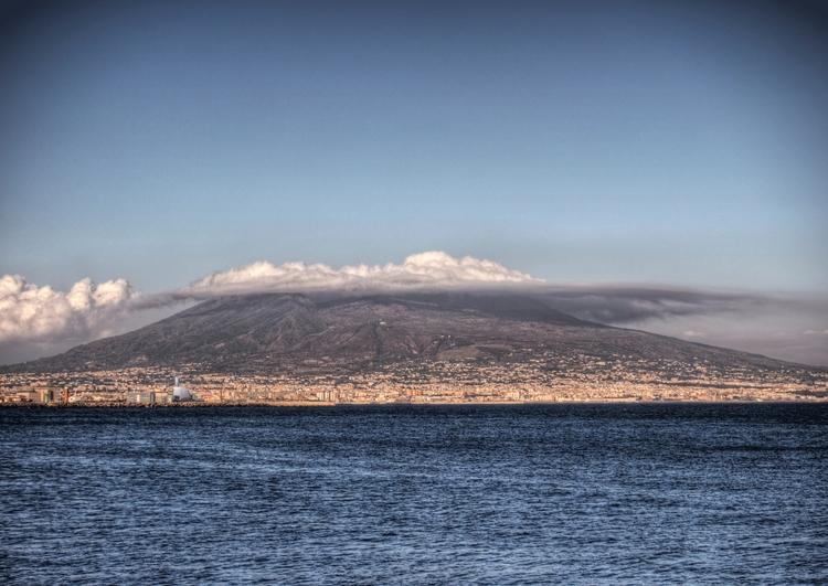 Mt. Vesuvius - Cloud hangs top  - neilhoward | ello