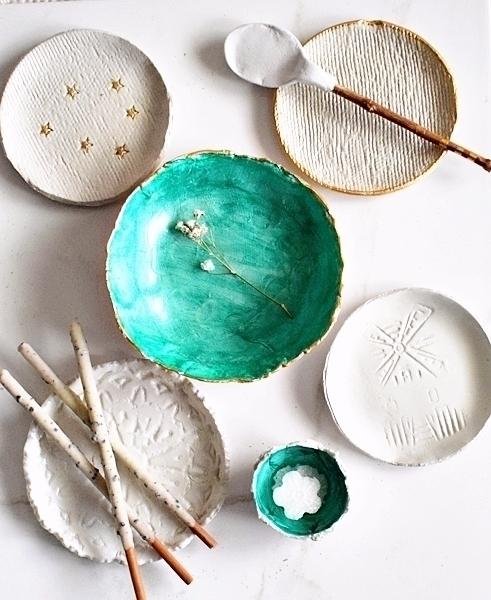 clay, pottery, ringdish, handmade - azandairalee | ello