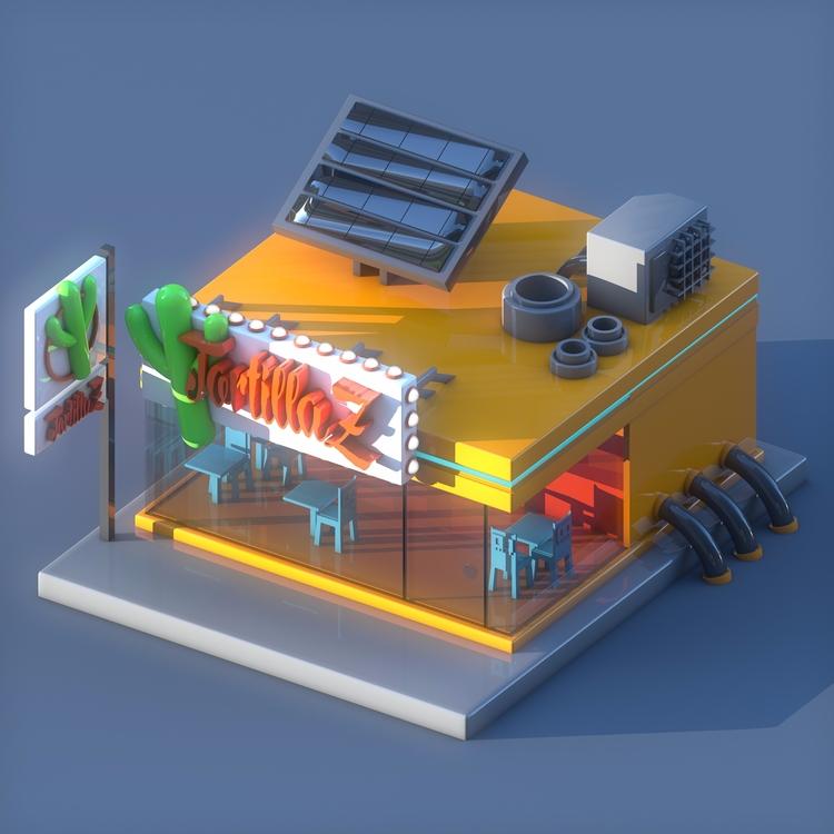 Tortilla Shop Cinema 4D / Physi - observerdoel | ello