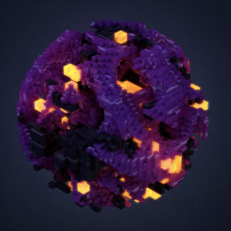 Virtual Molecule Cinema 4D / Ph - observerdoel | ello